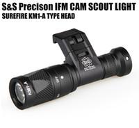 linterna táctica MFI CAM scout pistola de luz de aluminio anodizado duro QD CREE LED de doble salida linterna Negro