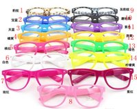10pcs 15 Colors Fashion Lovely Unisex Clear Lens Nerd Geek G...