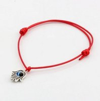 100pcs Hamsa Hand String Evil Eye charms Lucky Red wax Cord ...