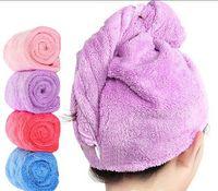 Bunte Mode weiche absorbierende neue Koralle Samt trockene Haarkappe Duschkappe Schnelltuch Tuch aus China großhandel