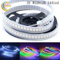 WS2812B 144 Pixel 2M Programmierbares LED-Streifenband Lichtschlauch 5050 RGB Digitale Traumfarbe Individuell adressierbar Vollfarbe 5V