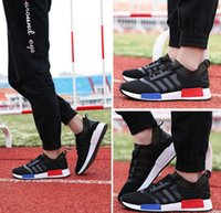 Top quality NMD Runner Primeknit Black Red Blue Mens Sports ...