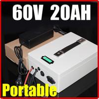 Батарея лития 60V 20AH , многофункциональная батарея самоката велосипеда E-велосипеда солнечной энергии RC руки 67.2 V портативная электрическая