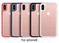 ShockoProof Armor Case Soft TPU Bumper Clear Acrylic Back Cover Defender Case för iPhone X 8 7 6 6s plus inget paket