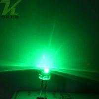 1000pcs 5mm Cappello di paglia verde Acqua Cancella LED Lampada Light Lampada Emissione di Diodo Ultra Bright Branzy Plug-in Kit fai da te Pratica Pratica grandangolare