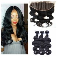 13x4 Lace Frontal Closure With Bundles Malaysian Human Hair ...