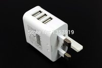 UK Plug True 3A 3 Ports USB Power AC Wall Charger Travel Ada...