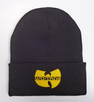 Wholesale-2015 Unisex Mask New Fashion Winter WU TANG CLAN Beanie Hats For Women Men Acrylic Black Knitted Caps Ski Crochet Gorros Toca