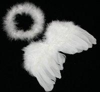 Baby Engel Flügel Infant Neugeborenen Baby Kinder Engel Fee Feder Flügel Kostüm Fotografie Requisiten Set Stirnband Prop kinder Tag 01 #
