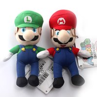 2 Style 9cm MARIO And LUIGI Super Mario Bros Plush Doll Keyc...