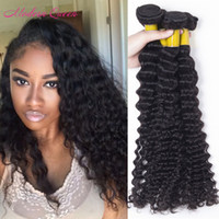 Cheap Brazilian 4 Bundles Brazilian Deep Curly Human Hair We...