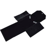 Нового дизайн черного бархат Складного ожерелье путешествие держатель кулон хранение Дело Личной Груша ювелирные изделия подарок хранение Ролл сумка 18 * 22см