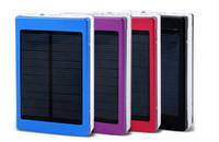 2016 새로운 15000mAh 태양 전원 은행 듀얼 USB 외부 배터리 태양열 충전기 PowerBank 아이폰 삼성 Xiaomi HTC