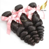 Peruvian Human Hair Extensions Loose Wave Bundles 100% Unpro...