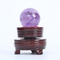 HJT 100g Wholesale natürlichen Amethyst Edelstein Kugel / Amethyst Heilkugel zum Verkauf Home Dekorationen kleine Kristallkugel