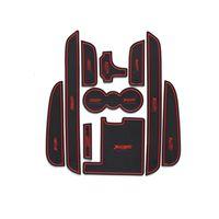 10pcs gomma antiscivolo interni auto porta bracciolo di stoccaggio pannello mat portabicchieri slot pad copertura sticker per jaguar xf