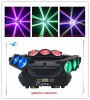 회전식 스파이더 빔 이동 머리 9pcs 12w 4in1 rgbw 파티 밤 막대에 대 한 디스코 주도 빛