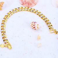 24K Yellow Gold Filled Bracelets 9MM Rhodium Plated Fine Jew...