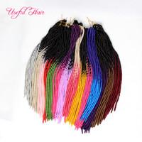 Tığ sarışın saç uzantıları OMBRE RENK FAUX LOCS paket örgü brades dreadLOCKS SYNTHETIC örgü tığ örgüler HAIR MARLEY