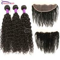Peruvian Curly Hair With Full Lace Frontal 13x4 Cheap Kinky ...