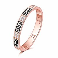 2017 Extra thin 2. 5mm Light Pink 18K gold filled greek key E...