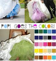 Fantastik 1950'ler Gelinlik için Popüler Vintage Petticoats Bulundu Çok Renkli Gökkuşağı Petticoats Gelin Resmi Uzun Dantel Petticoats