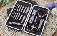 Tırnak Makası Seti 12 in 1 takım Tırnak Bakım Seti Pedikür Makas Cımbız Bıçak Manikür Araçları