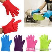 Wholesale Kitchen Heat Resistant Silicone Glove Oven Pot Hol...