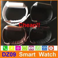 "SmartWatch 2015 أحدث DZ09 Bluetooth الذكية ووتش لالروبوت الهاتف الخليوي الذكية 1.56 ""بطاقة SIM بناء في متصفح الجملة 30 قطع"