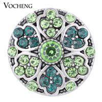VOCHENG NOOSA Snap Schmuck 4 Farben Blüte Glücksbringer Knopf Vn-1306