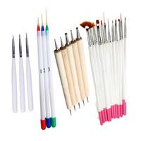 Livraison Gratuite Mode 4 Set Peinture Nail BrushDesign Peinture Nail Liner Brosses Art et Dotting Nail Tools