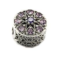 Passend für Pandora Armband 100% 925 Sterling Silber Perlen schimmerndes Medaillon, Multi-Colored CZ diy Gewinde Charme 2016 neue Herbst