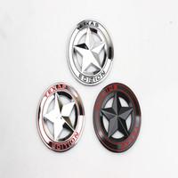 3D metal Acessórios Etiqueta TEXAS EDIÇÃO Pentagrama Emblema Fender Bota Tronco Do Carro Para Chevrolet Malibu Decoração Adesivo Car Styling
