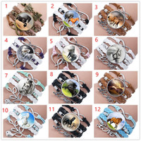 Women' s Fashion Horse Time Gem Glass Jewelry Charm Brac...