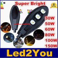 Bridgelux Led Street Lighting AC 85-265V Highway Impermeabile IP65 Led Outdoor Lighting 30W 50W 60W 80W 100W 150W Led Street Light Lampada