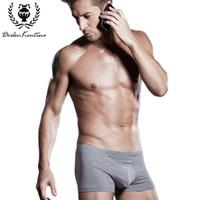 Оптовая продажа-95% хлопок мужчины боксер Cueca нижнее белье Дерлен Кентино Марка U-type 3D стереоскопический дизайн мода Sexy Mens Underwear боксеры 8762
