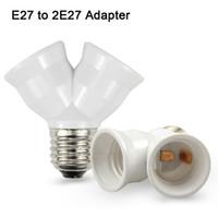 1pcs Fireproof Matériel E27 à 2 E27 DOUILLE Converter Socket Conversion AMPOULE Type de base 2E27 Y Forme Adaptateur Splitter