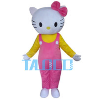 HOT Hello Kitty Costume personaggio dei cartoni animati adulto carino Fancy Dress Mascot