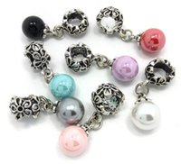 Brand new mix color pearl pendant big hole loose beads fit E...