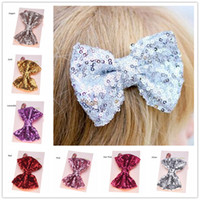 Wholesale 24pcs Sequin Hair Bows Large Hairbow hairclip Gold...