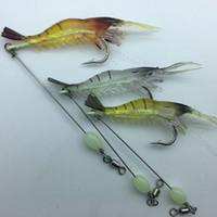 3 шт. / Лот рыболовные приманки встроенный крючок светящиеся приманки креветок комплект серебристые креветки зимняя рыбалка рыбалка морские приманки Sabiki Soft