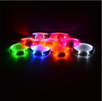 Music Activated Sound Control Led Braccialetto lampeggiante Light Up Braccialetto Wristband Night Club Activity Party Bar Disco Cheer