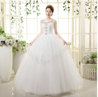 Soft Tulle Wedding Dress 2016 Ball Gown Strapless Cry Lace T...