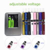 EVOD MT3 sigaretta Kit EGO Ecig Kit tensione variabile della batteria 650mAh 900mAh 1100mAh MT3 atomizzatore con la scatola di alluminio