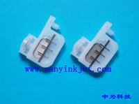 20pcs amortisseur d'encre transparant Petit amortisseur grand net avec tête carrée pour imprimante Epson R1800 / 1900/1390/2400/1100 DX4 DX5