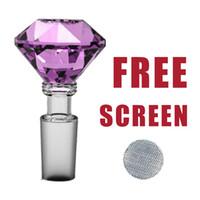 Formax420 14mm 유리 다이아몬드 그릇 허브 홀더 6 색 5 무료 화면 무료 배송