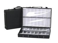 Eyeglass bandeja dupla saco de amostra de exposição caixa de armazenamento de mala de mala e óculos breves bandeja com divisores amostra carring saco