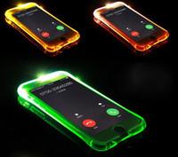 Nuevo Soft TPU LED Flash Light Up Caso Recuerda cubierta de llamada entrante para Samsung Galaxy A3 A5 A7 A8 A9 2016 J5 J7 Nota 4 5 S6 S7 Edge