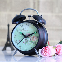 Fashion Wrought Iron Double Bell Lazy Alarm Clock With Night...