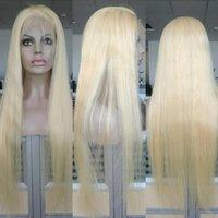 WithloveHair 150 % 밀도 금발 버진 인간의 머리 가발 금발 전체 레이스 가발 스트레이트 최고 품질 금발 # 613 레이스 프런트 가발